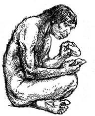 картинки первобытного человека карандашом