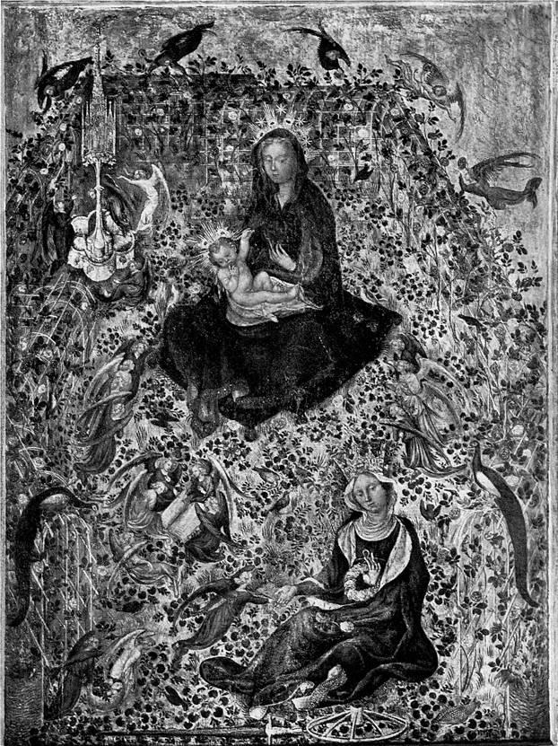 Стефано да Верона. Мадонна в саду роз