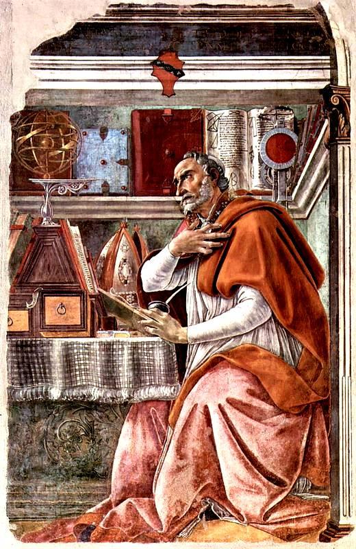 Святой Августин в молитвенном созерцании