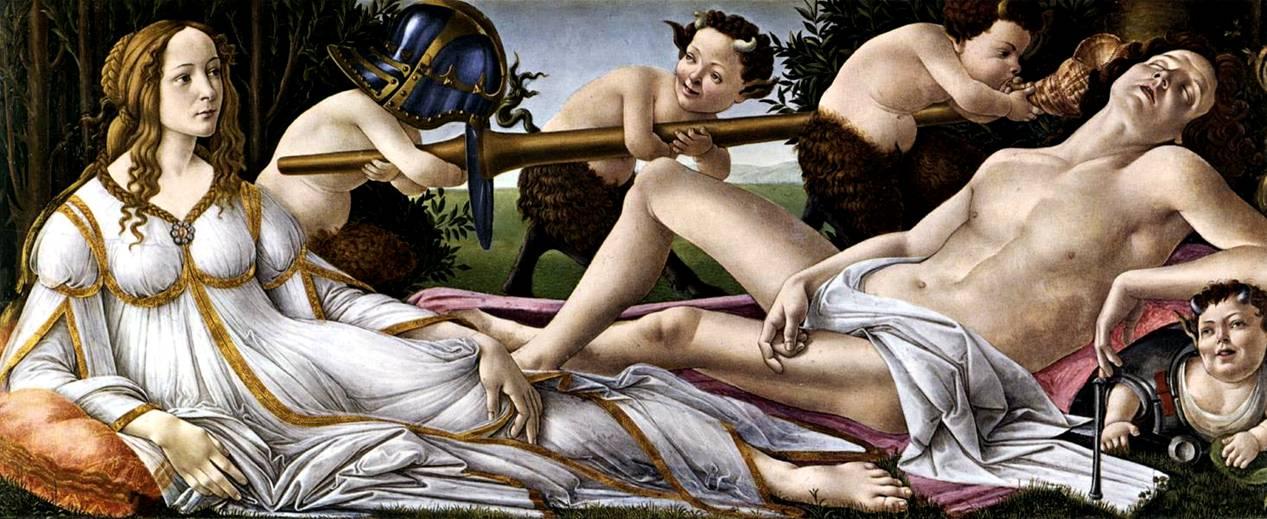 Боттичелли. Венера и Марс