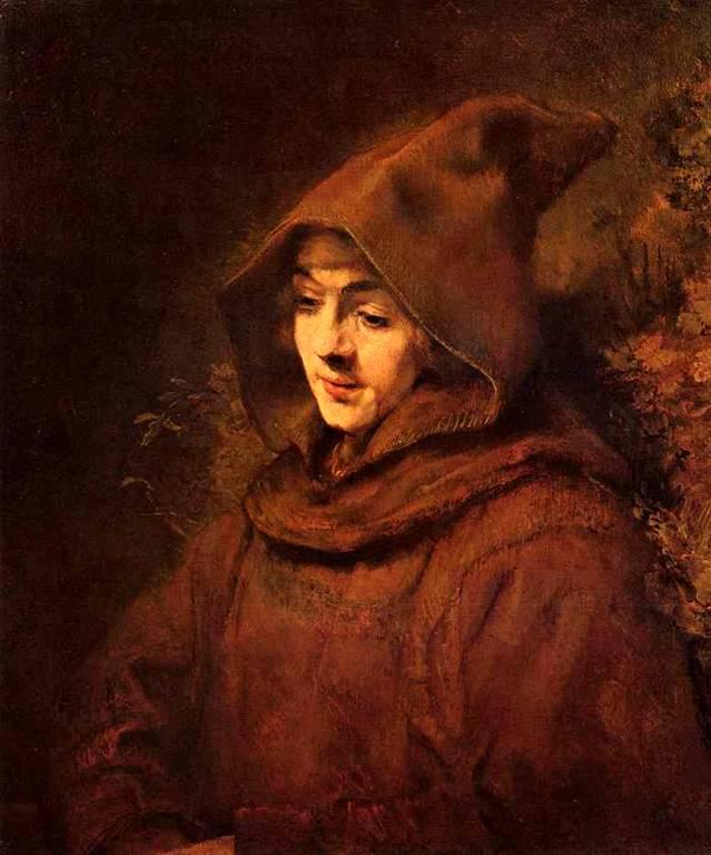 в монашеском платье