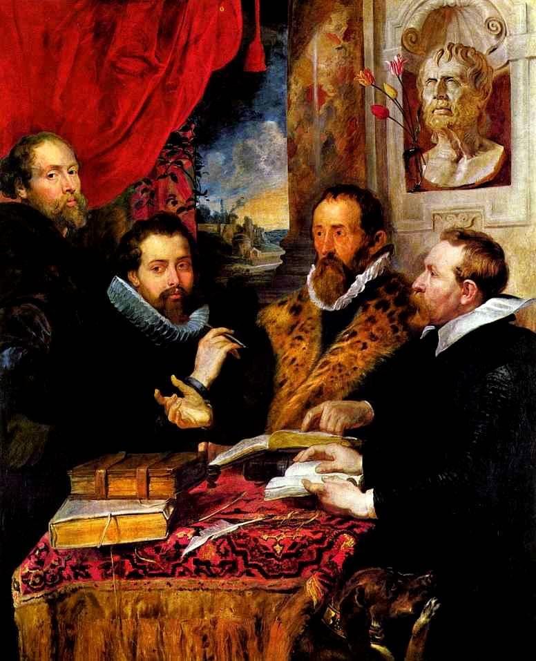 Питер Пауль Рубенс - Четыре философа, слева направо: Рубенс, его брат Филипп...