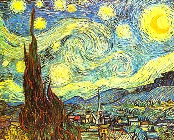 картина Винсента Ван Гога Звездная ночь