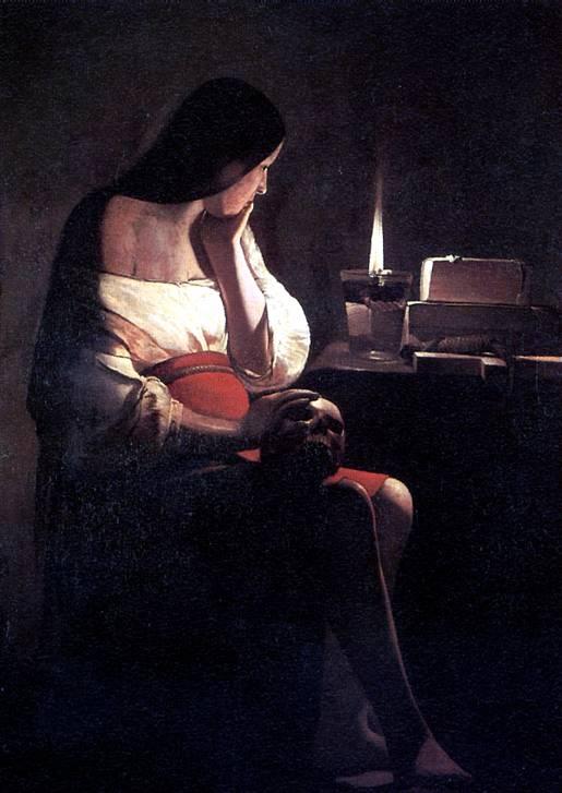 ЛАТУР Скорбящая Магдалина Магдалина перед светильником