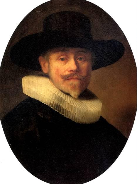 Лувр.  РЕМБРАНДТ Альберт Купер, 1632.  Лейден, 1606 - Амстердам, 1669.
