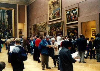 Лувр. Зал с картинами