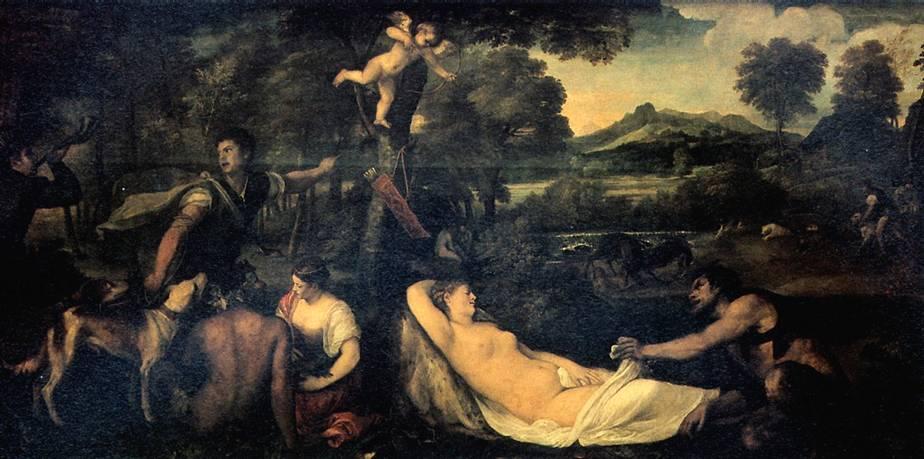 ...Тициан перечисляет картины, отосланные испанскому