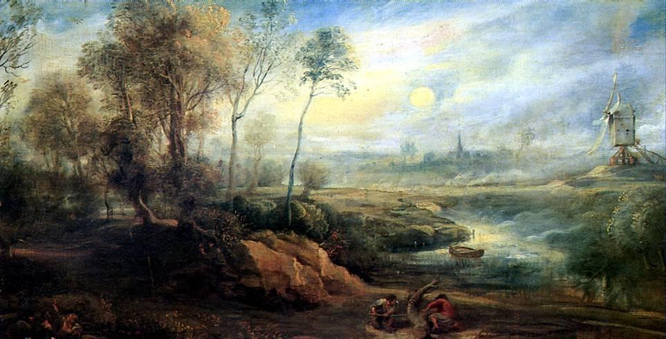 Пейзажи рубенса пейзаж с птицеловом
