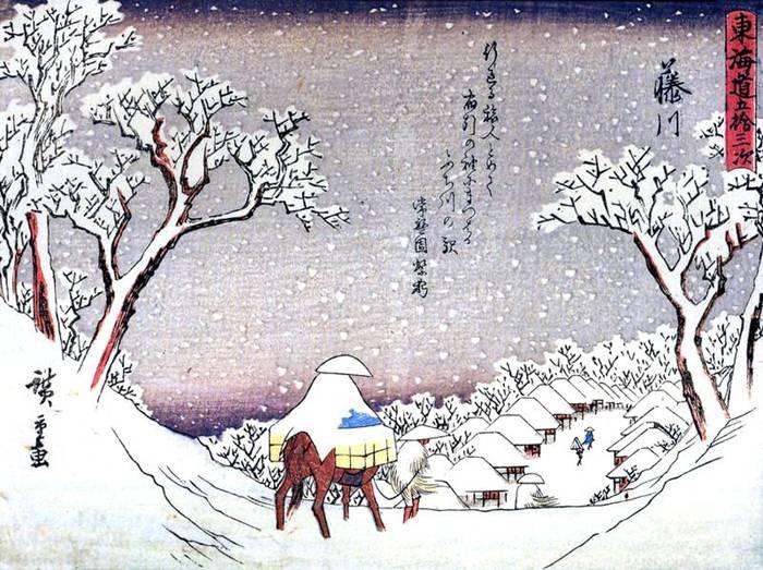 Всадник на снегу