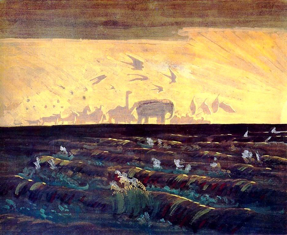 Картина Чюрлениса: Приветствие Солнцу: bibliotekar.ru/k100-Chyurlenis/23.htm
