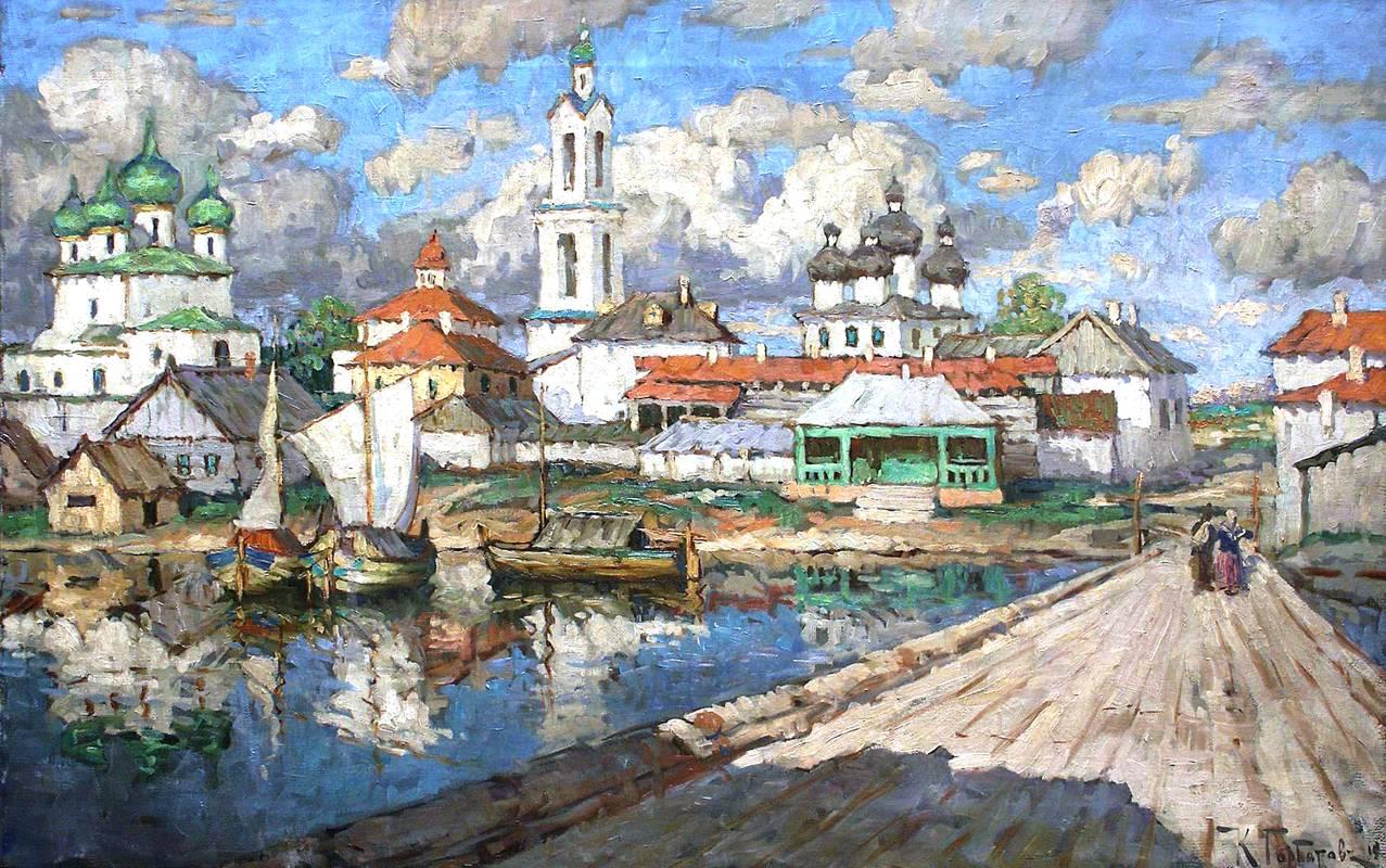 Картина горбатова: старый город