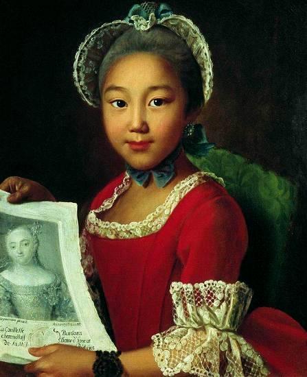 Картина аргунова портрет калмычки