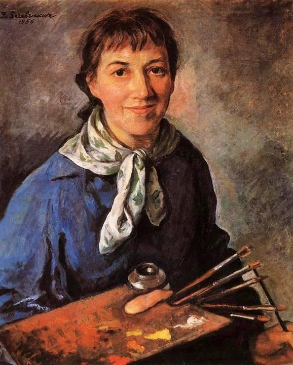 Картина Серебряковой : Автопортрет (1956 ...: bibliotekar.ru/k94-Serebryakova/54.htm