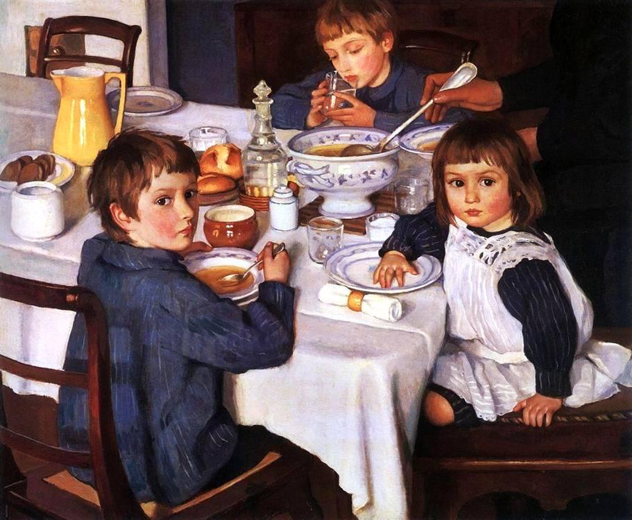 Картина Серебряковой : За завтраком: www.bibliotekar.ru/k94-Serebryakova/60.htm