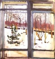 Картина Зинаиды Серебряковой Окно