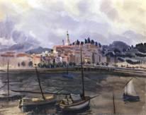 Ментона. Вид с гавани на город