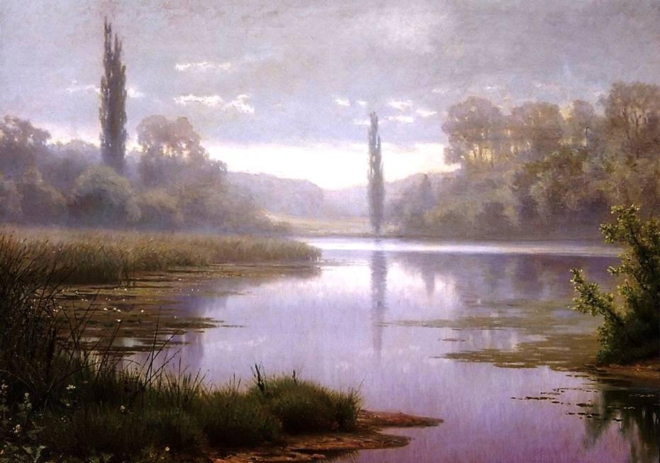 пейзаж Туманное утро
