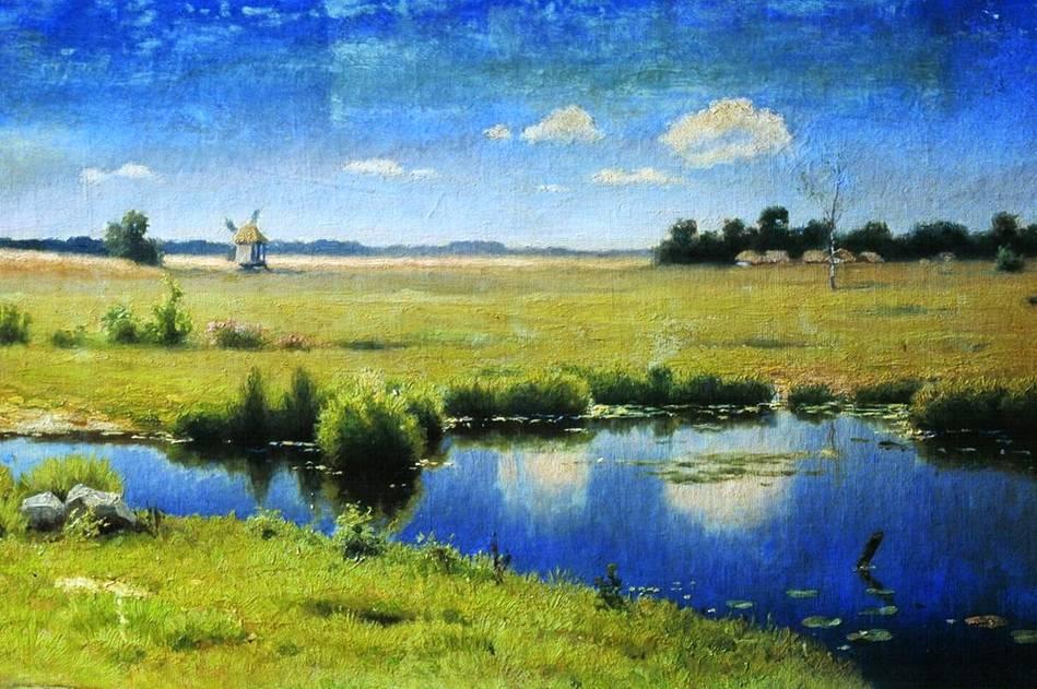 Украинский пейзаж река на украине