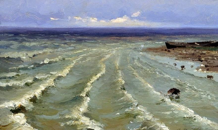 Морской пейзаж. Прибой на море