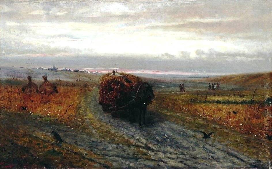 Русский пейзаж. Во время сенокоса