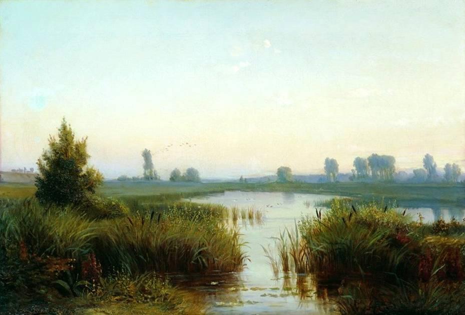 Русский пейзаж. Пейзаж с болотом