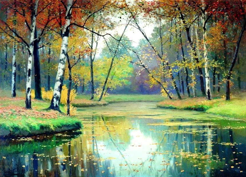 Картина волкова осенний пейзаж