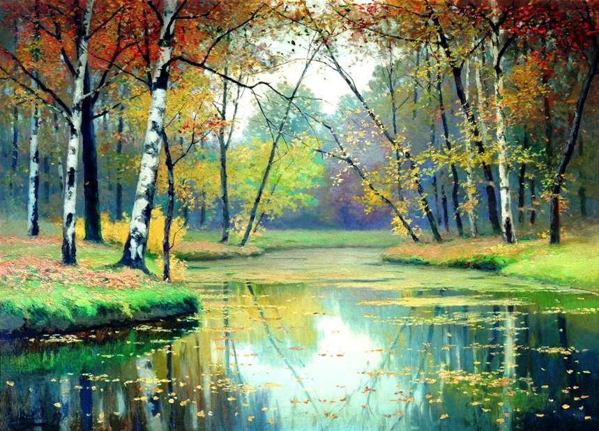 Осенний пейзаж Ефим Волков