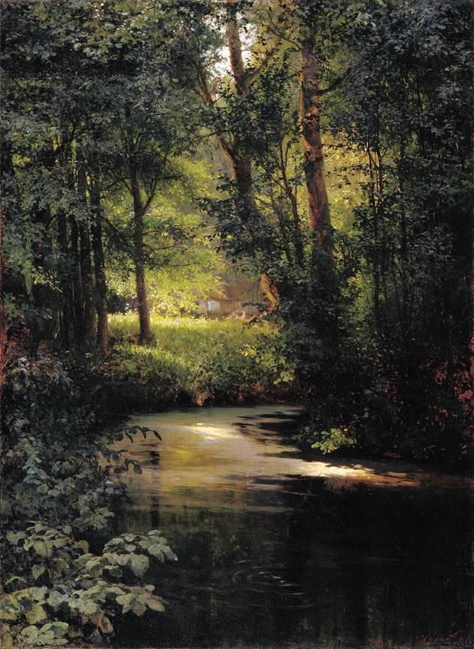Картина Мясоедова Лесной ручей