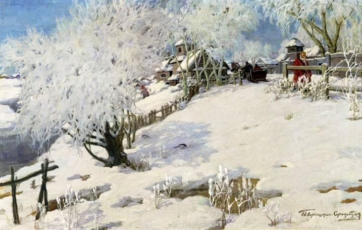 Солнце на лето зима на мороз картины