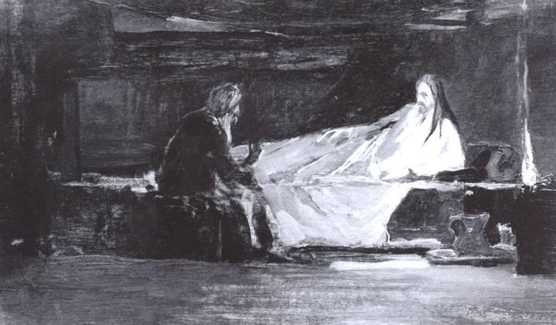 Христос беседует с Никодимом