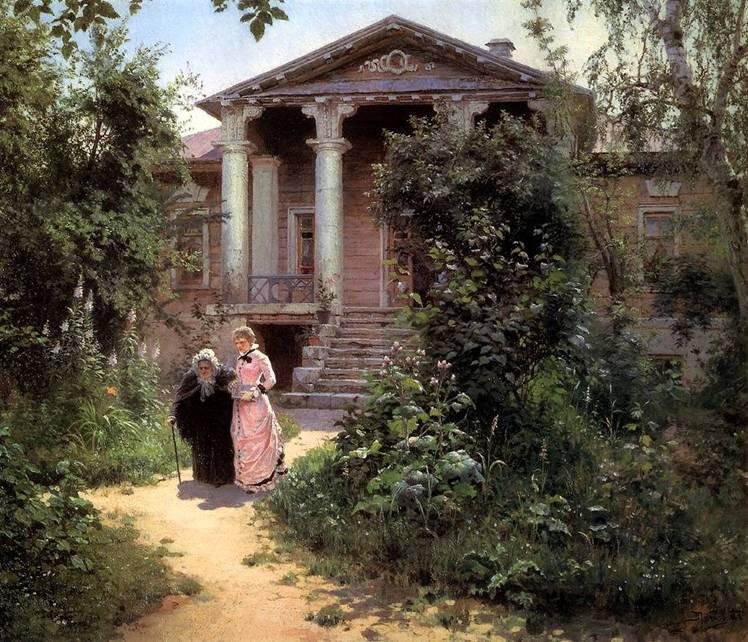 Картина Поленова Бабушкин сад