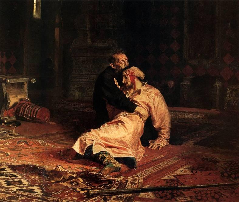 Иван Грозный Убивает Своего Сына Описание Картины