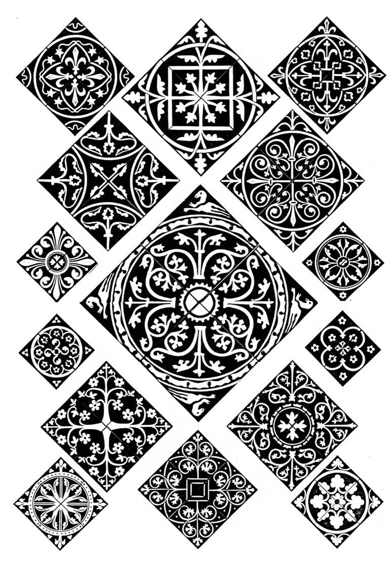 Средневековое искусство и готический орнамент Средневековое искусство и готический орнамент #160.