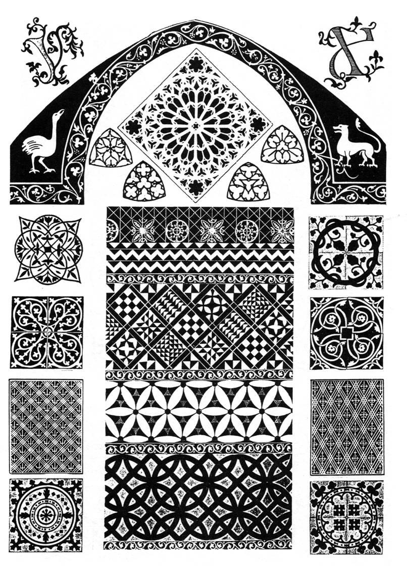 готический орнамент Живопись Галереи картин и графики