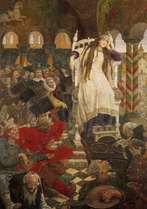 картина царевна Несмеяна. Дом-музей В.М. Васнецова