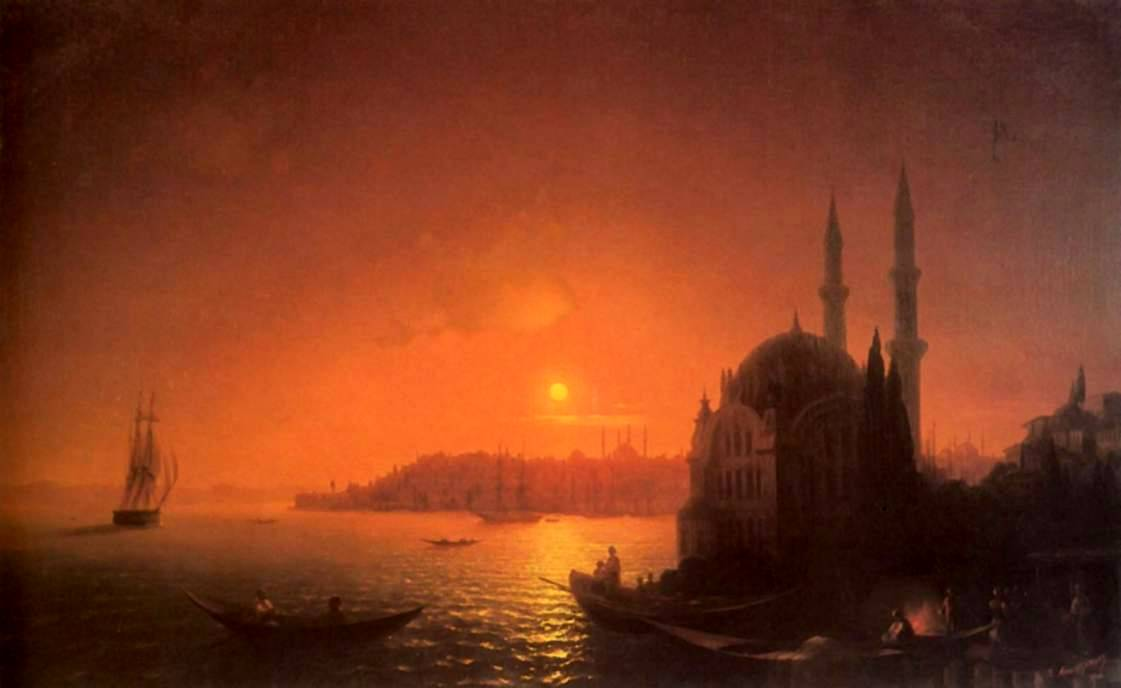 Константинополь при луне