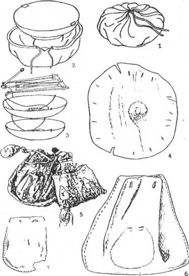 Средневековые кожаные кошельки.