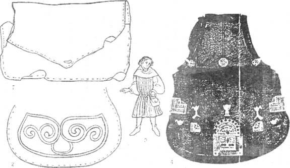 """Известно немало средневековых кожаных  """"кошельков """" с металлическими..."""