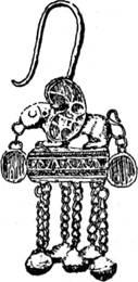 Золотая серьга греко-скифской работы из Рязановки