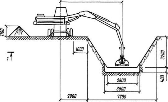 предусматриваются схема разработки котлована, глубина выемки грунта экскаватором с недобором на 15-20 см до проектной...