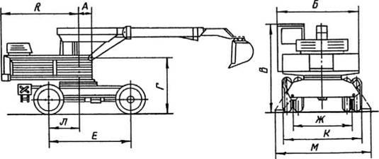 Схема экскаватора ЭО-3332А